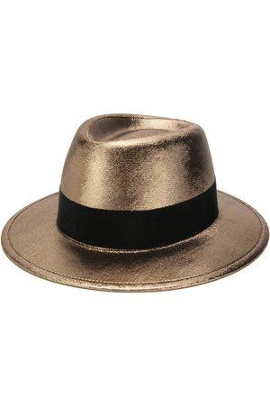 Saint Laurent Metallic trilby hat