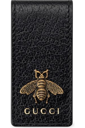 Gucci Bee motif money clip wallet
