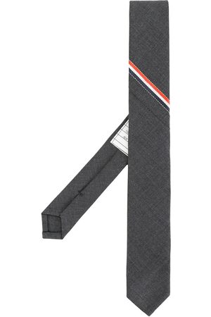 Thom Browne Muži Motýlky - Classic Necktie With Seamed In Red, White And Blue Selvedge (26cm) In Super 120's Twill