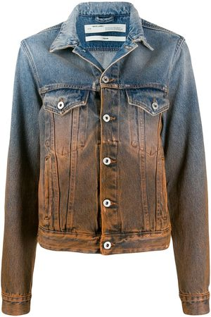 Off-White Ženy Džínové bundy - Degrade denim jacket