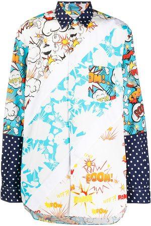 Comme des Garçons Long-sleeved print-mix shirt
