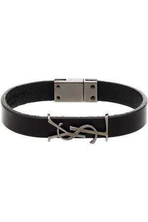 Saint Laurent Leather logo bracelet