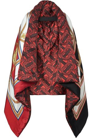 Burberry Archive scarf print oversized puffer cape