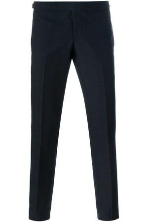 Thom Browne Low Rise Skinny Side Tab Trouser In 2 Ply Fresco