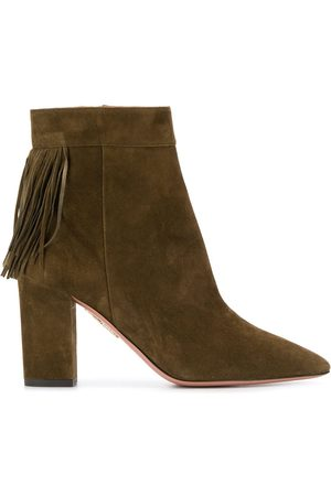 Aquazzura Ženy Na podpadku - Fringe heeled boots