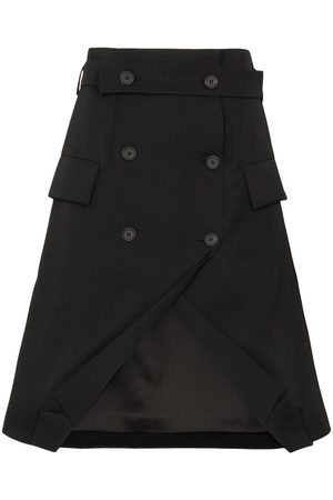 DELADA Ženy Obleky - Double-breasted tuxedo skirt