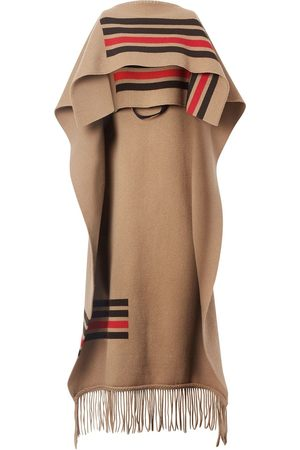 Burberry Fringed cape