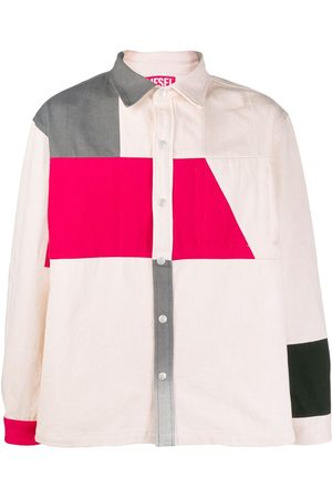 Diesel Red Tag Colour block shirt jacket