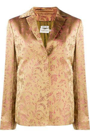 ROMEO GIGLI 2000's floral jacquard jacket