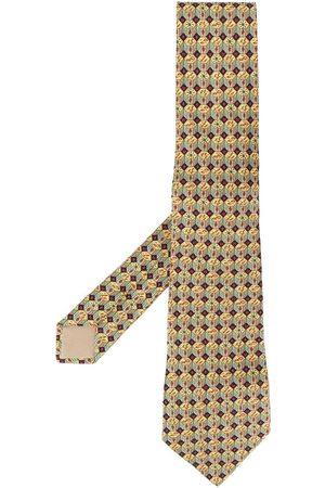 Hermès 2000s geometric print scarf