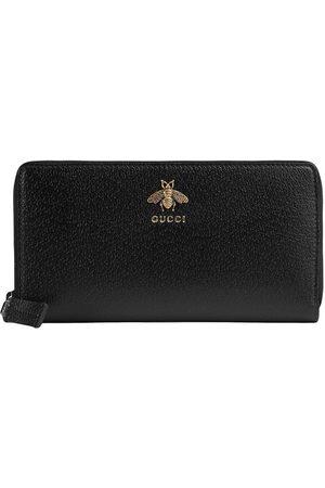 Gucci Muži Peněženky - Animalier leather zip around wallet