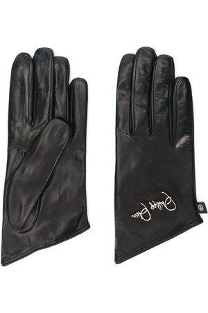 Philipp Plein Embroidered logo gloves
