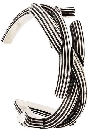 Saint Laurent Monogram textured cuff