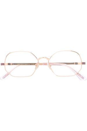 Jimmy Choo Round frame glitter glasses